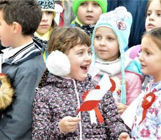 Człuchów. Święto Niepodległości - uroczystości pod pomnikiem ZDJĘCIA WIDEO
