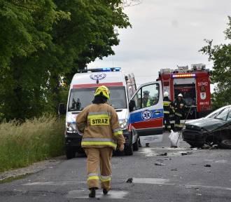 Wypadek na trasie Kuślin - Buk w miejscowości Wiktorowo [ZDJĘCIA]