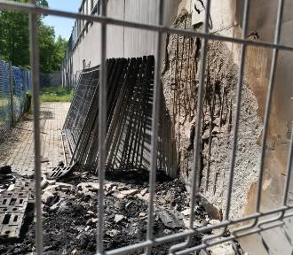 Pożar na stadionie GKM Grudziądz
