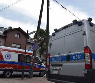 Wypadek w Pucku z udziałem 22-letniej rowerzystki z  Pucka (sierpień 2018). Dziewczynę przewieziono