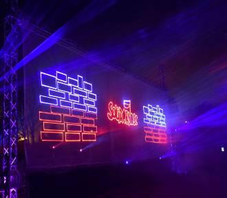 Widowisko laserowe w Szamocinie z okazji Święta Niepodległości (FOTO)