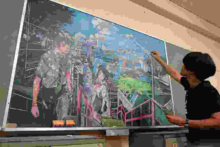 Nauczyciel zawstydził uczniów niesamowitymi obrazami tworzonymi...na tablicy!