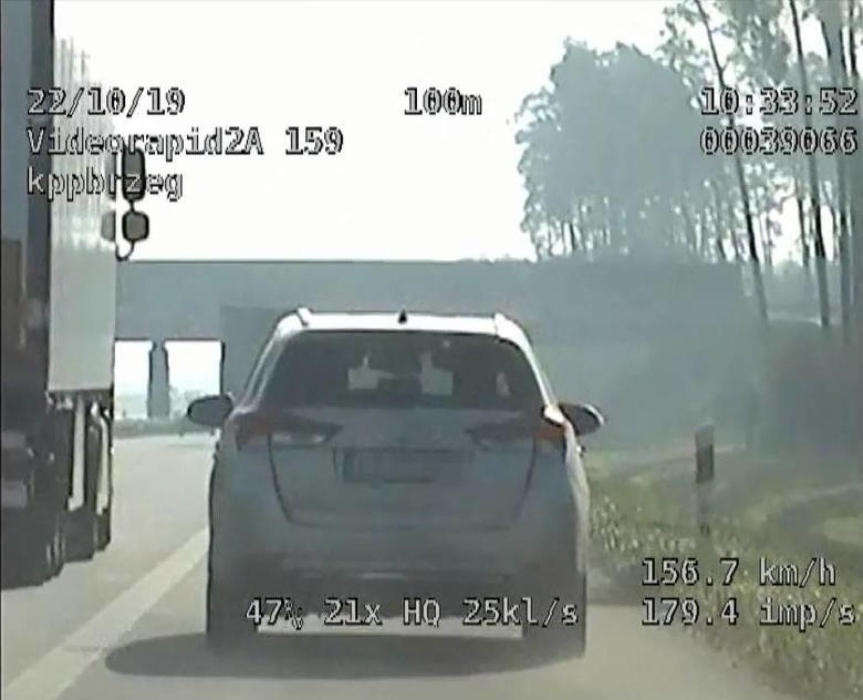 Pirat drogowy na autostradzie A4