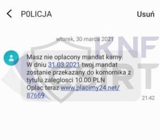 """""""Masz nieopłacony mandat"""" - policjanci ostrzegają przed fałszywymi SMS-ami"""