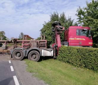 Ciężarówka wjechała do ogródka w Udorpiu
