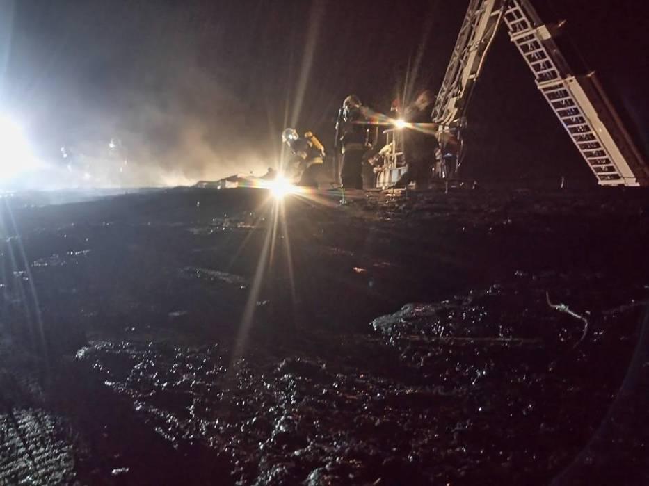 Pożar chlewni w Objezierzu