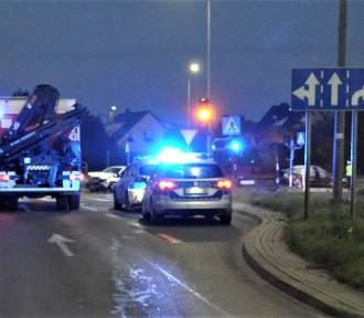 Policja pracowała na miejscu dwóch wypadków w Tczewie i Gniewie