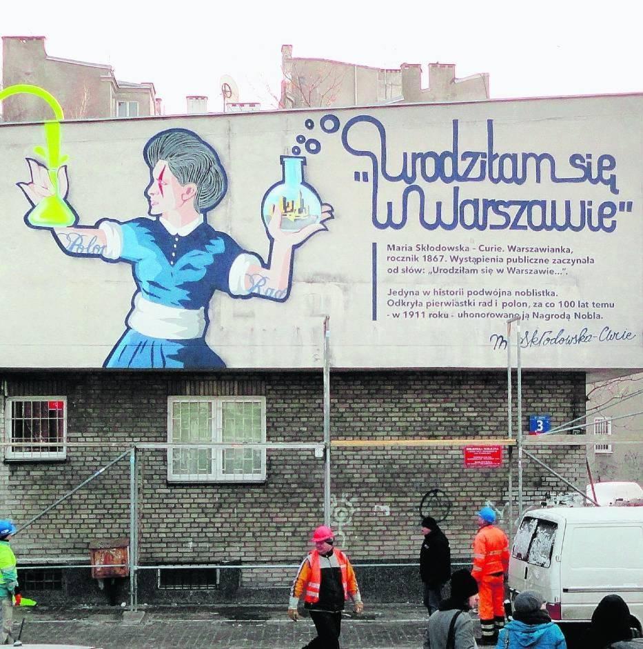 Nieistniejący już mural na ulicy Lipowej 3