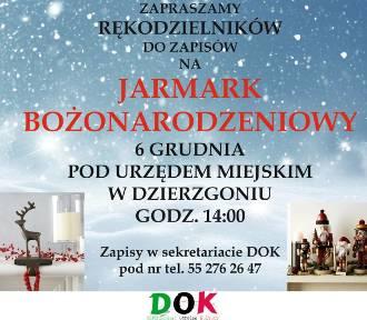Bożonarodzeniowy kiermasz w Dzierzgoniu - można już zgłaszać swój udział