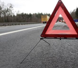 Wypadek na autostradzie A-2. Dwie osoby trafiły do szpitala