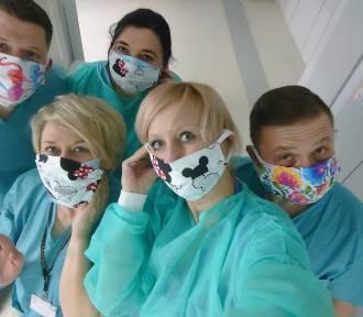 Fryzjerka z Lublina szyje kolorowe maseczki dla lekarzy