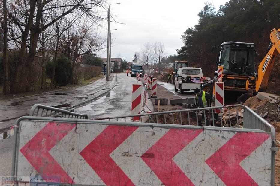 Włocławek - trwają inwestycje drogowe, remonty, przebudowy