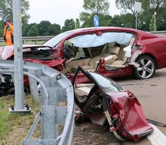 Groźny wypadek koło Chełmska [ZDJĘCIA, WIDEO]