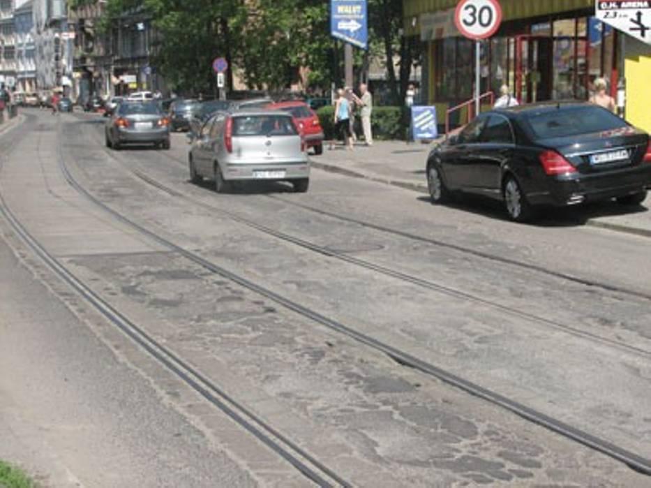 Ulica Wieczorka jest jedną z najbardziej zniszczonych dróg w Gliwicach
