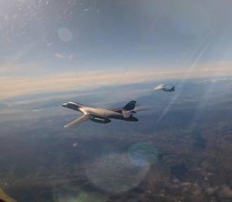 F16 z bazy w Łasku latały z amerykańskimi bombowcami strategicznymi B1