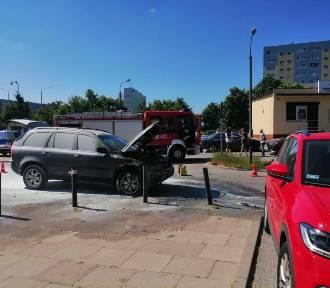 Pożar samochodu w Gdańsku. Płonęła komora silnika!