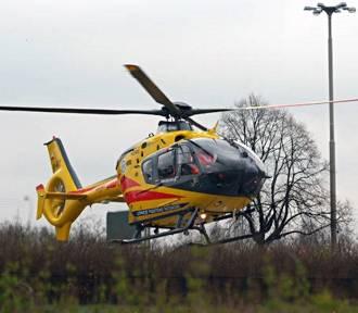Wypadek w zakładzie kamieniarskim. Rannego transportował helikopret LPR-u