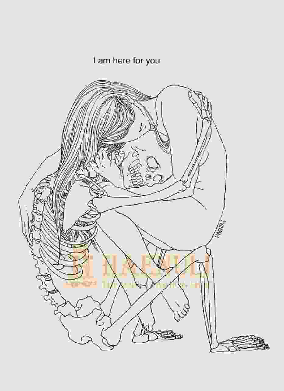 Poruszające rysunki śmierci miały pomóc w walce z depresją [GALERIA]