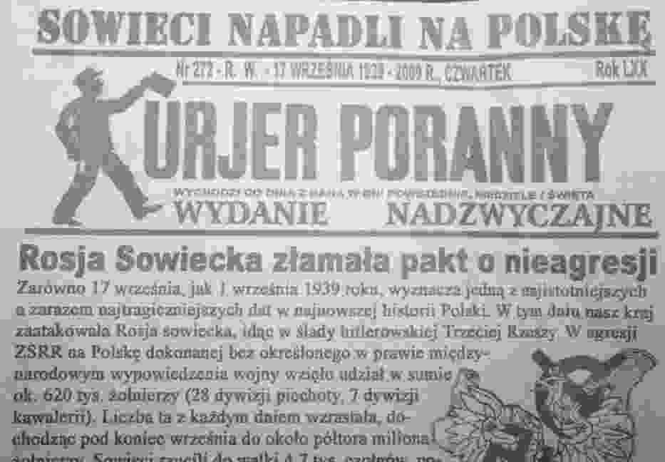 Kurier Poranny nr 272 z 17 września 1939 roku Fot