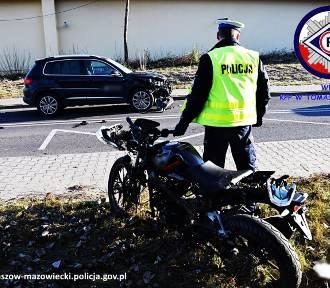Wypadek z udziałem motorowerzysty w Wygodzie [ZDJĘCIA]