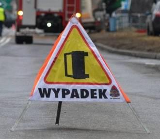 Wypadek autobusu na ul. Katowickiej. Zderzyły się trzy pojazdy