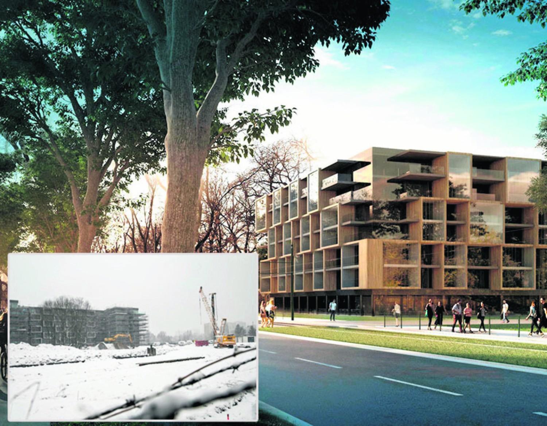 Nieopodal aparthotelu (na zdjęciu) ma stanąć drugi hotel - jak na wizualizacji