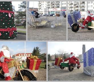 Do Włocławka Mikołaj przyjechał na motocyklu! Będzie iluminacja [zdjęcia]