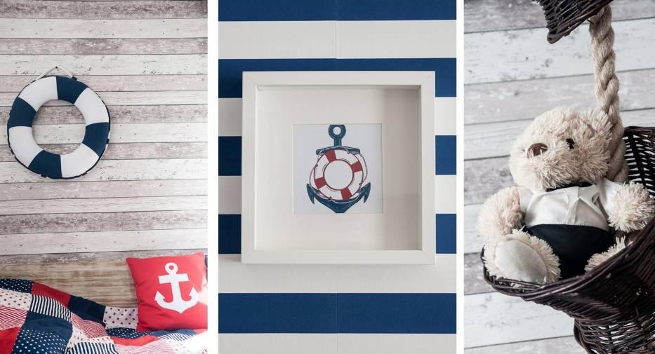 Jest to styl, który głównie kojarzony jest z jasnymi meblami, malowanym na biało drewnem, biało-niebieskimi dodatkami oraz typowo morskimi gadżetami, takimi jak muszle, modele okrętów czy busole