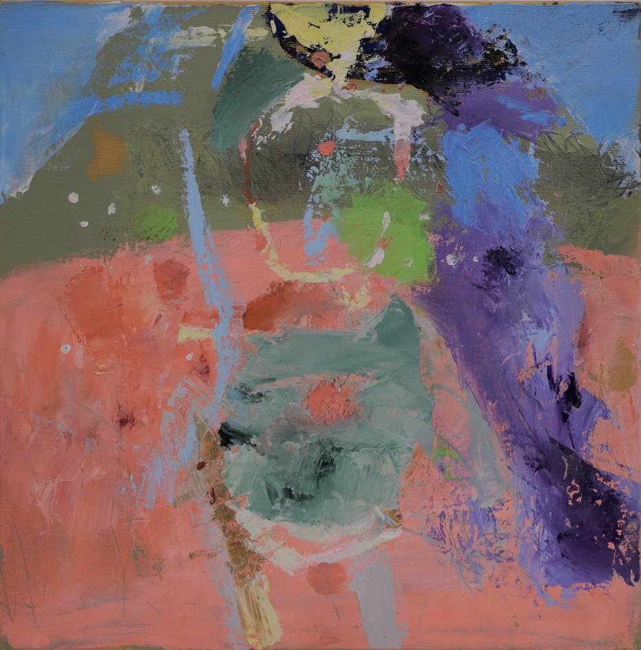 Nina Rostkowska, akryl płótno, 30x30cm