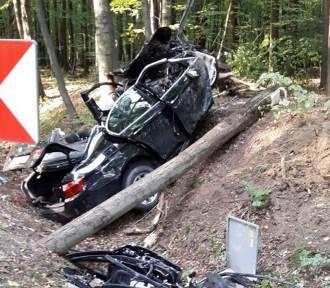 Tragiczny wypadek pod Gliwicami. Zginął kierowca bmw
