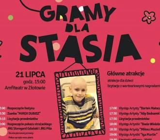"""Festyn Charytatywny """"Gramy dla Stasia""""  w amfiteatrze w Złotowie już wkrótce"""