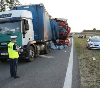 Śmiertelny wypadek na S8 koło Wieruszowa. Zginął kierowca ciężarówki