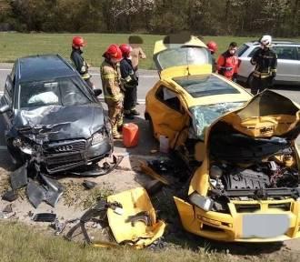 Groźny wypadek pod Barcicami. Dwie osoby ranne
