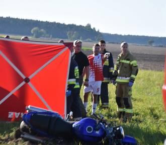 Września: Trwa walka o życie motocyklisty, Kołaczkowo-Łagiewki