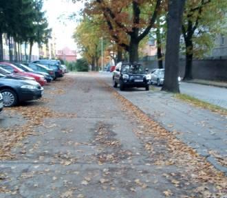 KROSNO ODRZAŃSKIE: Znów autodrań. Tym razem zaparkował... na chodniku