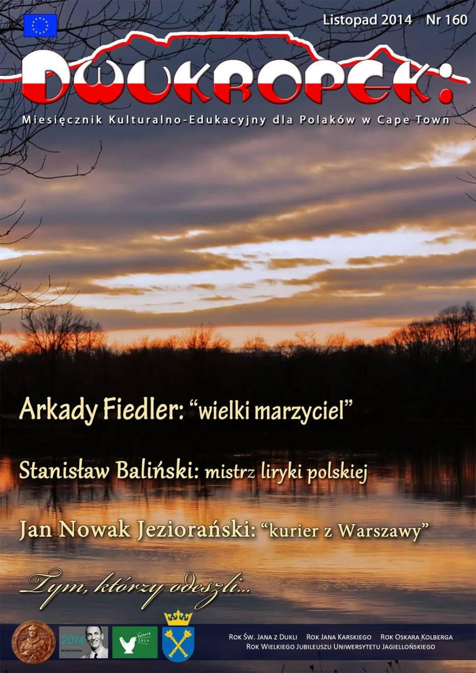 Okładka listopadowego numeru Dwukropka