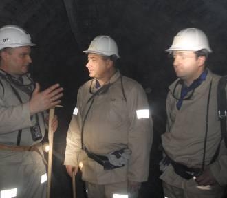 Kopalnię Chwałowice odwiedził wiceminister - zakład połączył się z ruchem Jankowice