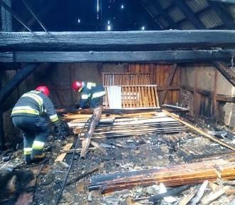 Płonął budynek w Podgórkach na terenie gm. Malechowo ZDJĘCIA