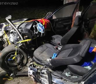 Wypadek pod Poznaniem: Auto uderzyło w drzewo [ZDJĘCIA]