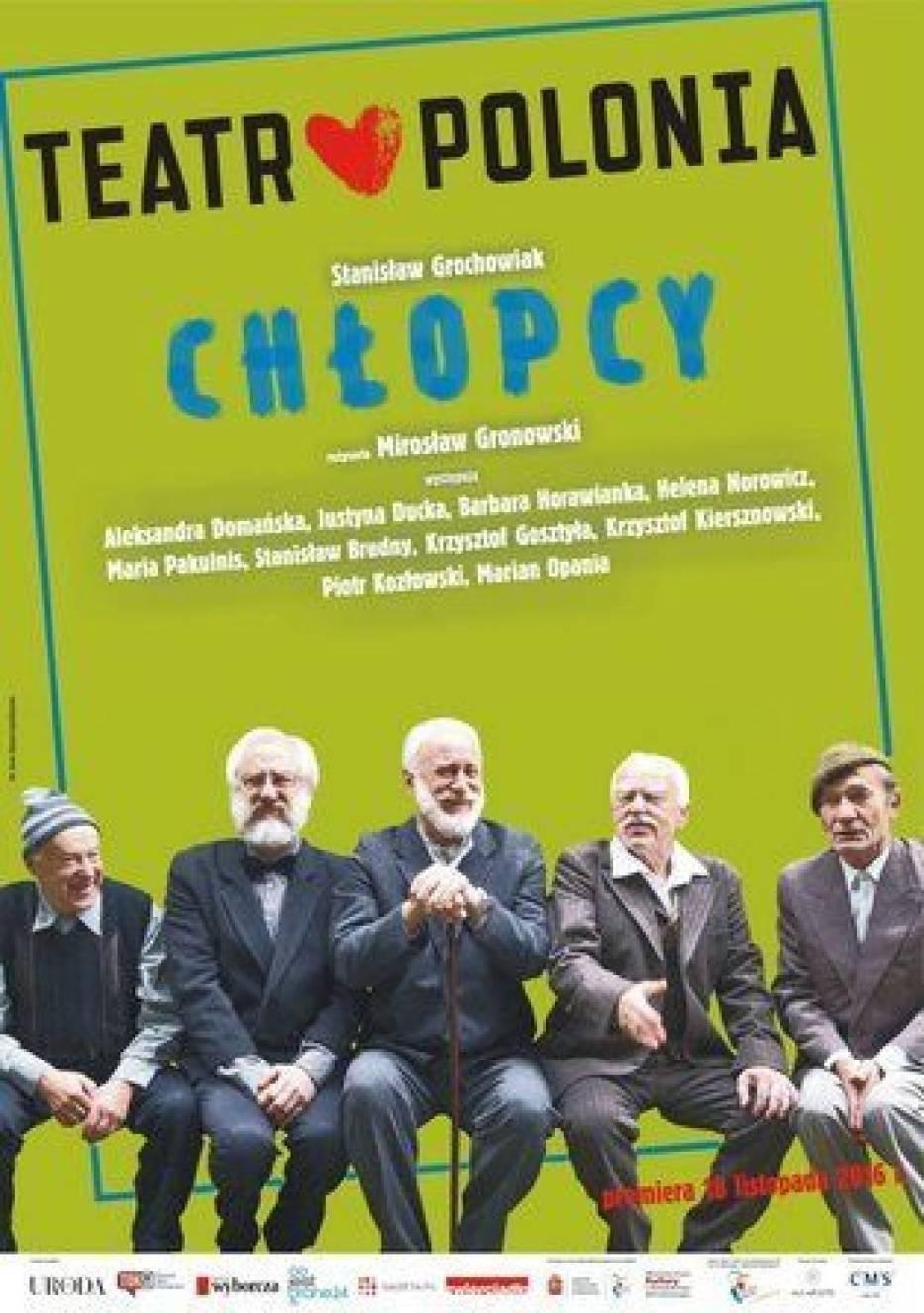 Plakat do sztuki 'Chłopcy' w Teatrze Polonia w Warszawie