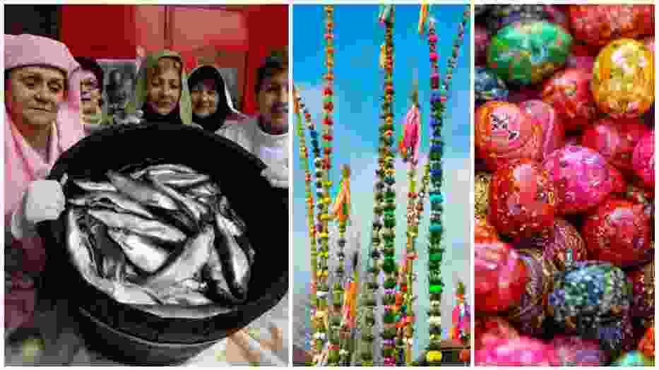Jedzenie bazi, pogrzeb żuru, wieszanie śledzia - Wielkanoc obfitowała w masę wierzeń i zwyczajów ludowych