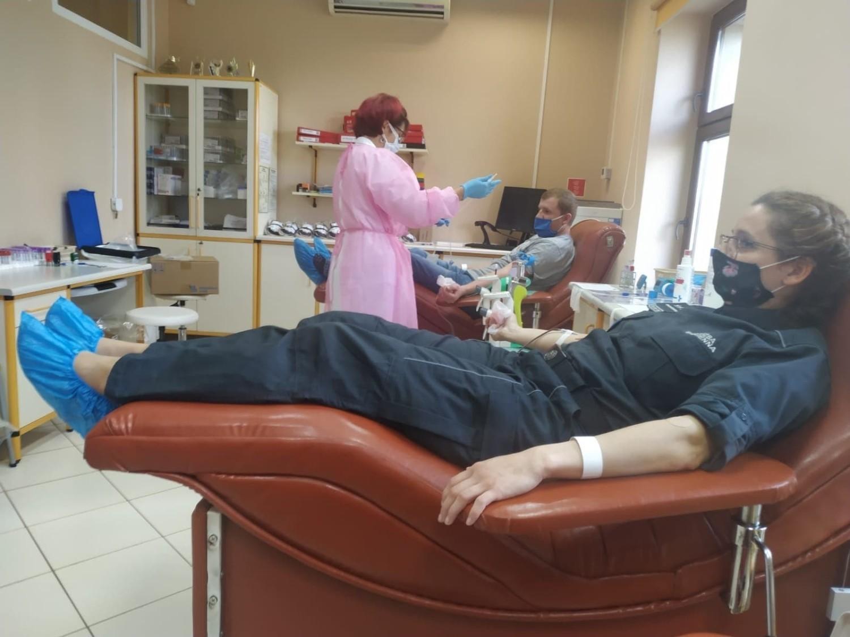 """Podczas dwudniowej akcji """"Twoja krew - Moje życie"""" pozyskano blisko 40 litrów krwi"""