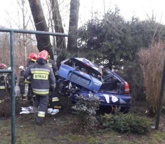 Nastolatek nie zapanował nad autem i uderzył w drzewo. Stan chłopaka jest bardzo ciężki [ZOBACZ