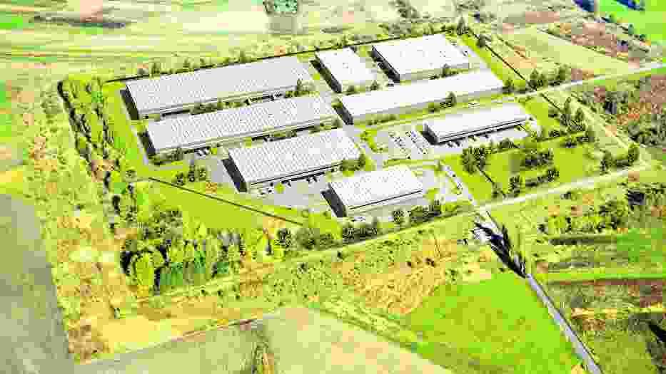 Wizualizacja centrum logistycznego firmy Goodman w Modlniczce pod Krakowem