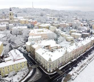 Zima w Przemyślu. Zobacz miasto z lotu ptaka [GALERIA]