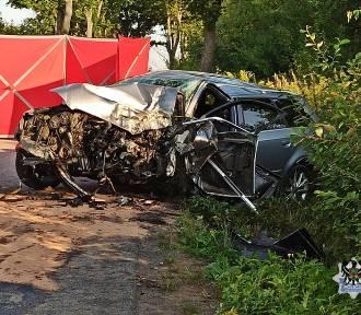 Śmiertelny wypadek koło Wałbrzycha. Zginął młody mężczyzna