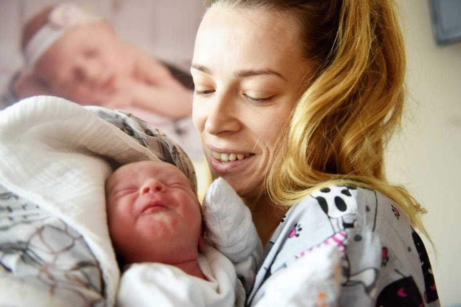 Paulina Rutkowska z synem Michałem Rogacewicz