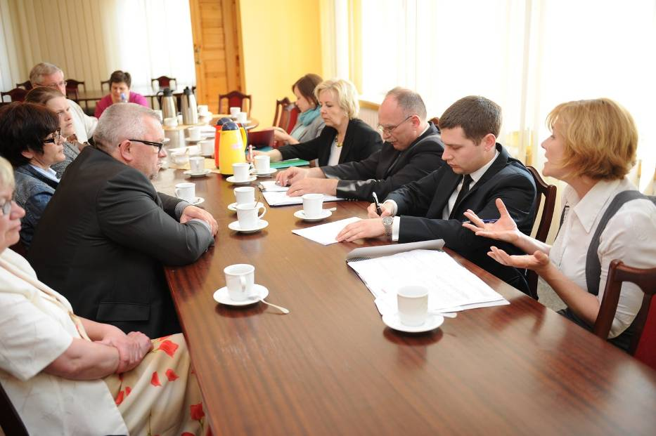 Spotkanie w Urzędzie Miasta z udziałem dwójki radnych