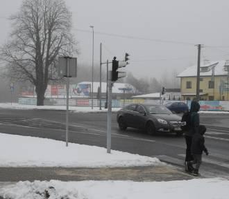 Bełchatów. Rondo turbinowe na Wojska Polskiego