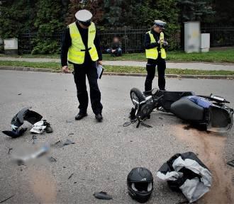 Policja pracowała na miejscu wypadku - kierowca kii nie ustąpił pierwszeństwa przejaz